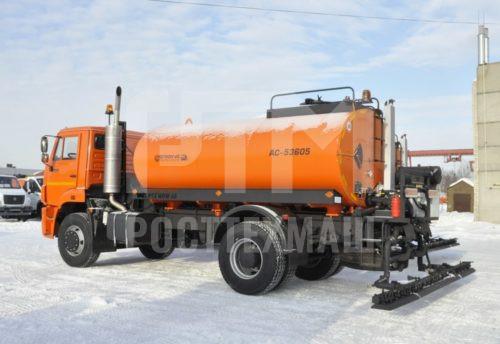 Купить Автогудронатор на шасси КамАЗ 53605 и другое оборудование для производства ПБВ и битумных эмульсий по низкой цене и на выгодных условиях от компании РостТехМаш!