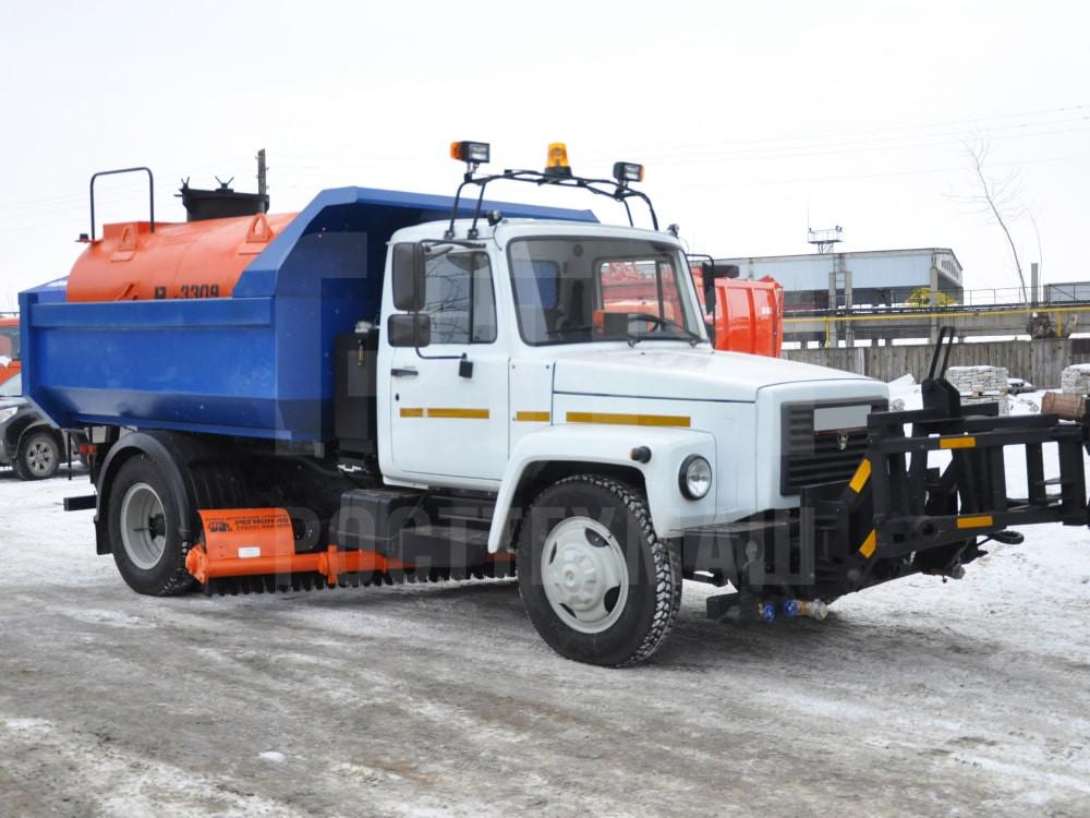 Купить КДМ на базе самосвала ГАЗ 3309 и другие модели на шасси КамАЗ, ГАЗ, МАЗ, УРАЛ, УРАЛ - NEXT, низкие цены и выгодные условия от компании РостТехМаш!