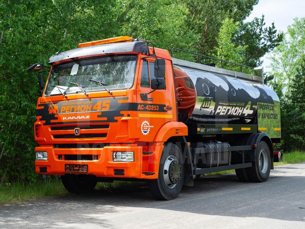 Купить Автогудронатор на шасси КамАЗ 43253М и другое оборудование для производства ПБВ и битумных эмульсий по низкой цене и на выгодных условиях от компании РостТехМаш!