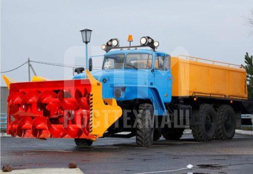 Купить Шнекороторный снегоочиститель УРАЛ АМКОДОР 9531-03 и другое оборудование для уборки снега по низкой цене и на выгодных условиях от компании РостТехМаш!