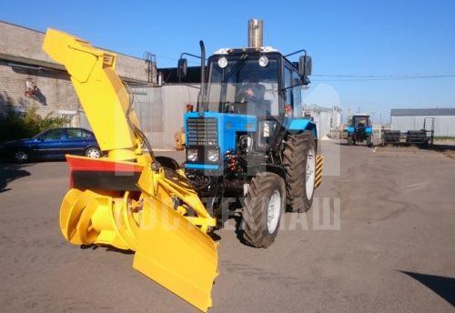 Купить Фрезерно-роторный снегоочиститель ДЭМ 124 и другое оборудование для уборки снега по низкой цене и на выгодных условиях от компании РостТехМаш!