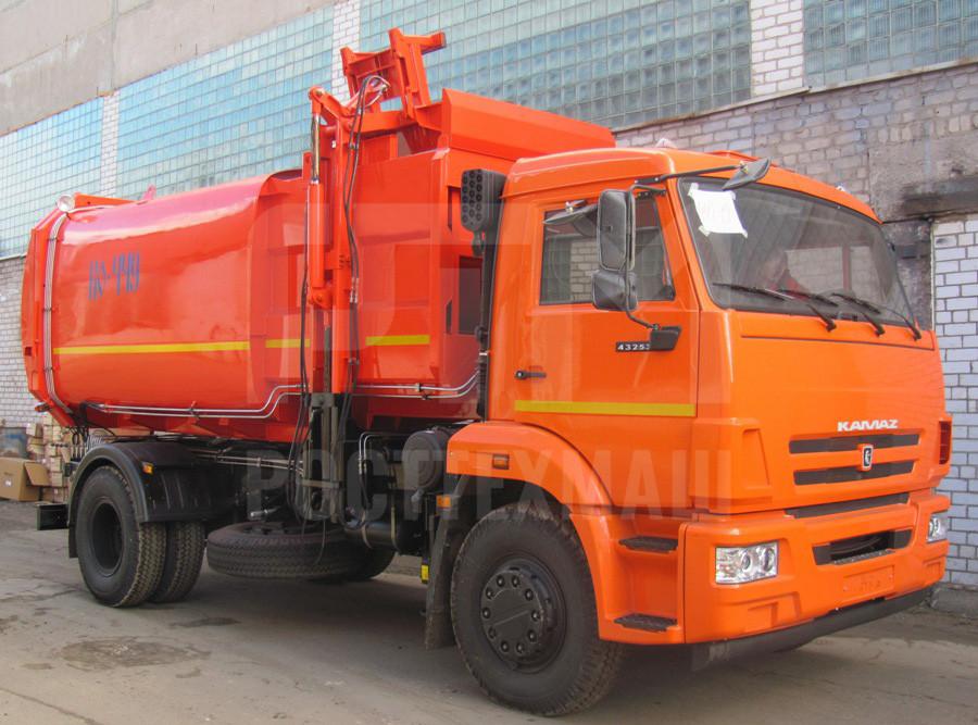 Купить Мусоровоз КамАЗ с боковой загрузкой КО-449-19 и другие модели на шасси КамАЗ, ГАЗ, ГАЗ - NEXT, МАЗ, УРАЛ, HYUNDAI, MAN, Dongfeng, низкие цены и выгодные условия от компании РостТехМаш!