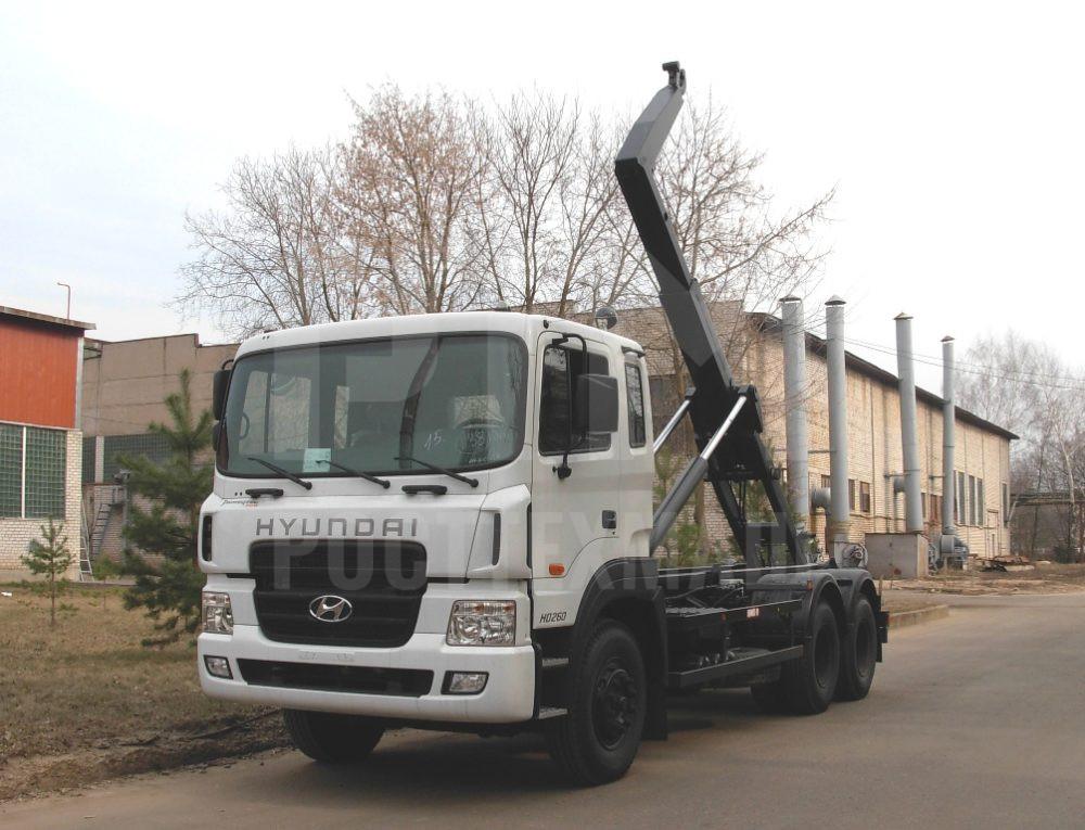 Купить Мусоровоз HYUNDAI контейнерный КО-452-12 и другие модели на шасси КамАЗ, ГАЗ, ГАЗ - NEXT, МАЗ, УРАЛ, HYUNDAI, MAN, Dongfeng, низкие цены и выгодные условия от компании РостТехМаш!