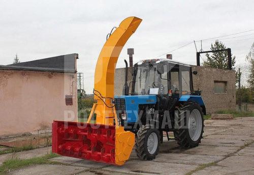 Купить Шнекороторный снегоочиститель ФРС-200М ГР с гидравлическим поворотом желоба и другое оборудование для уборки снега по низкой цене и на выгодных условиях от компании РостТехМаш!