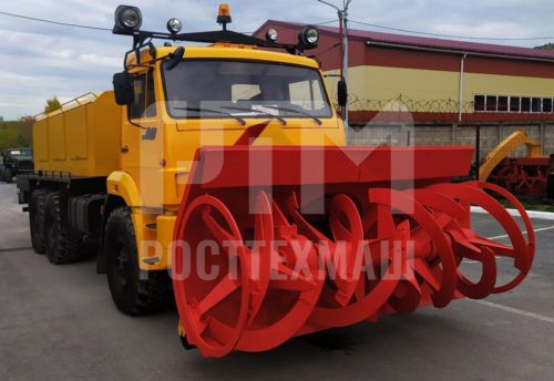 Купить Фрезерно-роторный снегоочиститель КамАЗ 103-СА и другое оборудование для уборки снега по низкой цене и на выгодных условиях от компании РостТехМаш!