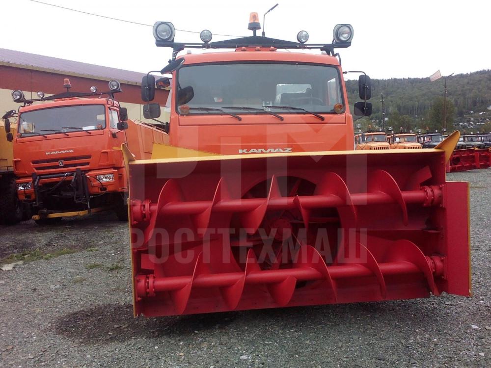 Купить Шнекороторный снегоочиститель КамАЗ СШР-1 003-СА-02 и другое оборудование для уборки снега по низкой цене и на выгодных условиях от компании РостТехМаш!