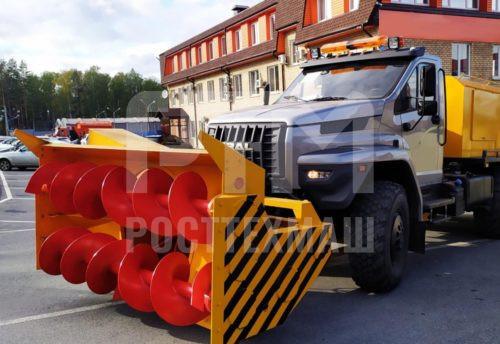 Купить Шнекороторный снегоочиститель УРАЛ-NEXT СШР-1 001-СА-02 и другое оборудование для уборки снега по низкой цене и на выгодных условиях от компании РостТехМаш!