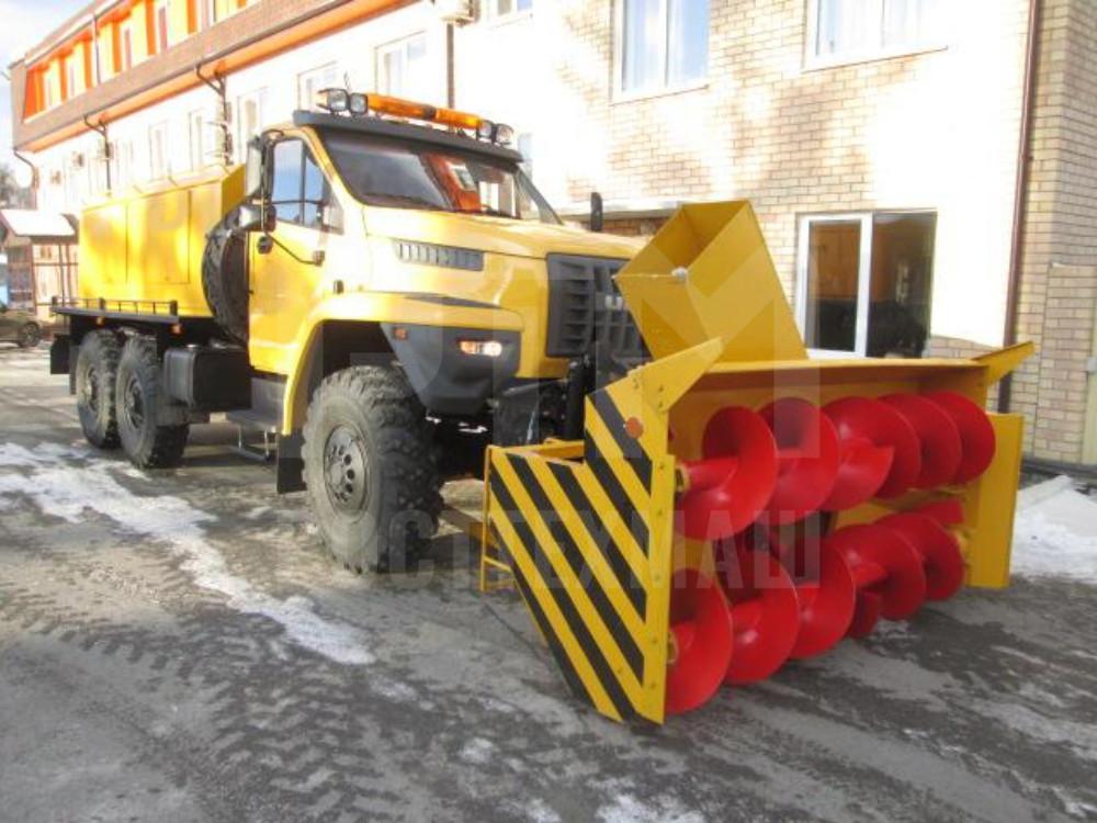 Купить Шнекороторный снегоочиститель УРАЛ-NEXT СШР-1 001-СА и другое оборудование для уборки снега по низкой цене и на выгодных условиях от компании РостТехМаш!