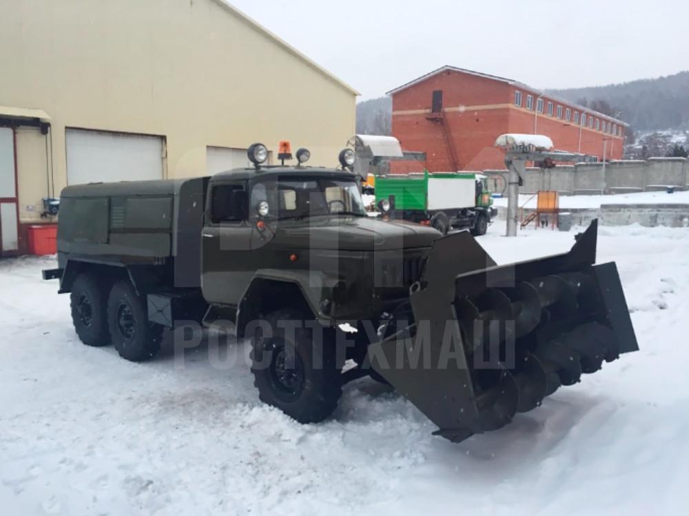 Купить Фрезерно-роторный снегоочиститель УРАЛ 101-СА и другое оборудование для уборки снега по низкой цене и на выгодных условиях от компании РостТехМаш!
