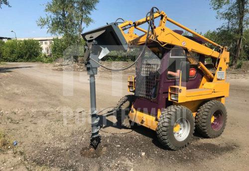 Купить Буровая установка и другое навесное оборудование для Мини Погрузчиков по низкой цене и на выгодных условиях от компании РостТехМаш!