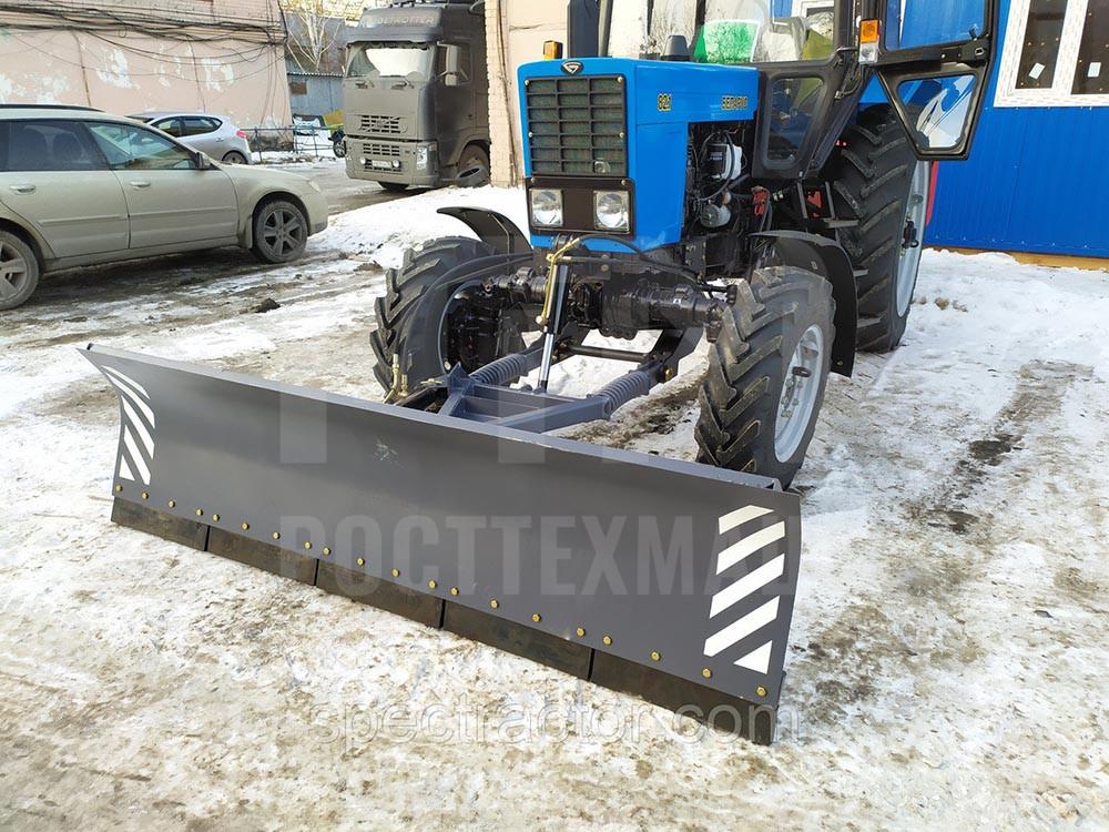 Купить Отвал коммунальный КО-2 (гидравлический поворот) и другое навесное оборудование для МТЗ по низкой цене и на выгодных условиях от компании РостТехМаш!