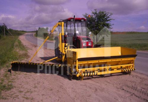 Купить Укладчик обочин МК-2300 на трактор МТЗ и другое оборудование для отсыпки и укладки обочин по низкой цене и на выгодных условиях от компании РостТехМаш!